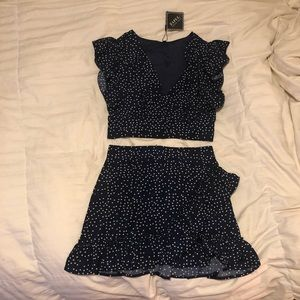 Two piece crop and skirt